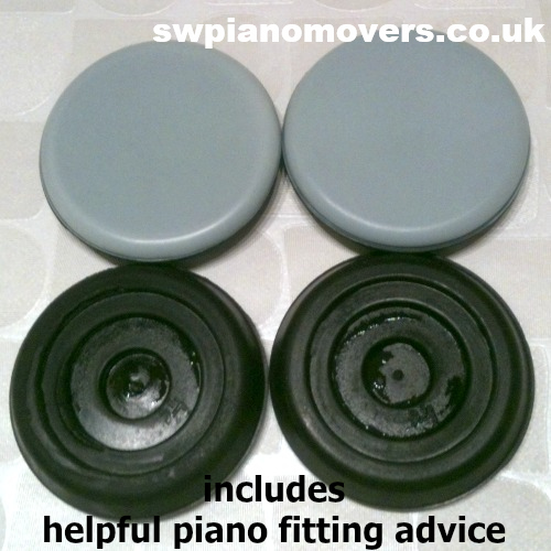 Gliding piano castor cups supplied by SW Piano Movers